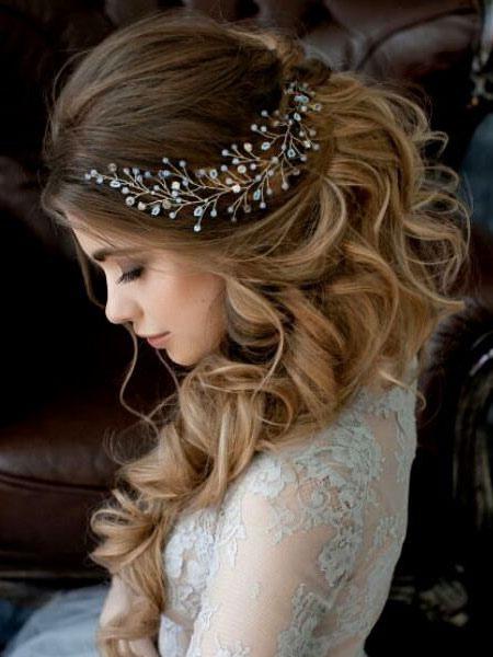 Wedding Gold Headband Crystal Headpieces Imitation Pearls Bridal Hair Accessories