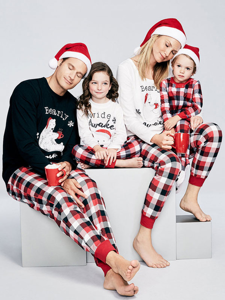 Women's Christmas Pajamas For Family Red Pants With Top For Mother Christmas Pjs