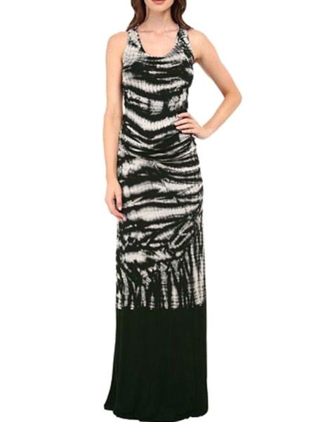 Floor Length Sleeveless Tie Dye Maxi Dress Milanoo