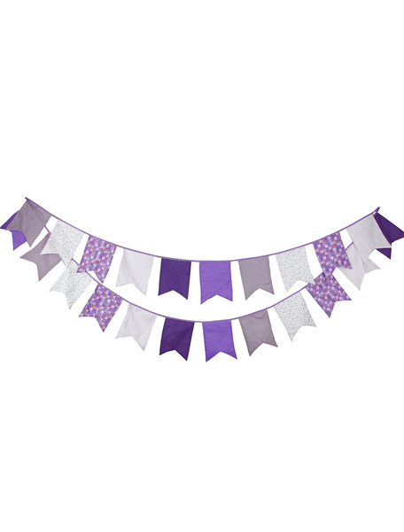 Wedding Banner Flags Clipart Purple Bunting Decorations Milanoo