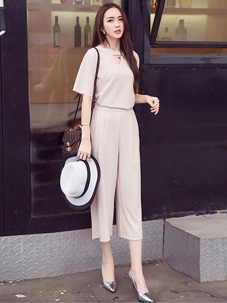 Elegant Black Jumpsuit Short Sleeve Wide Leg Women's Long Dressy Jumpsuit фото