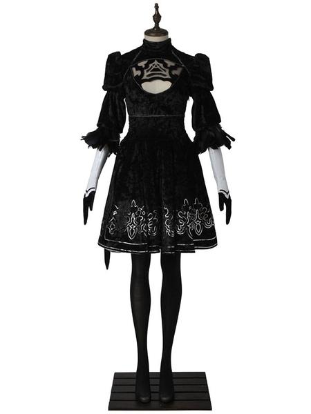 Nier Automata 2B YoRHa No.2 Type B Halloween Cosplay Costume Deluxe Edition фото