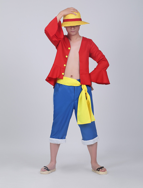 One Piece Luffy Cosplay Costume Set фото