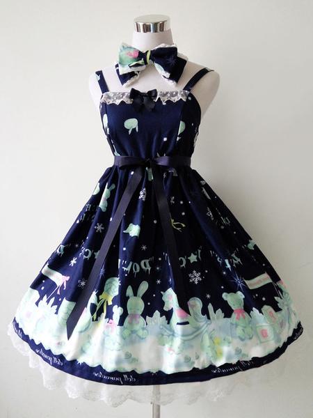 Sweer Lolita Dress Ice Dolls JSK Chiffon Ruffles Lolita Jumper Skirt фото
