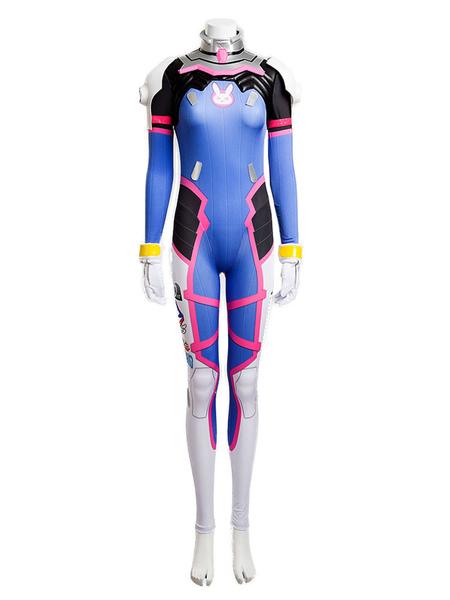 D.VA Overwatch OW Hana Song Cosplay Costume Cosplay Jumpsuit Halloween