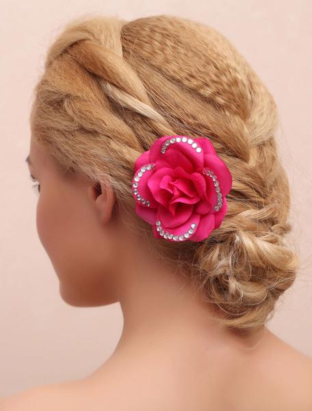 Flower Wedding Headpieces Rose Rhinestone Beading Bridal Hair Accessories