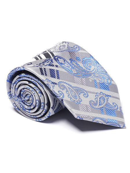 Milanoo / Men Dress Tie Paisley Jacquard Neck Tie