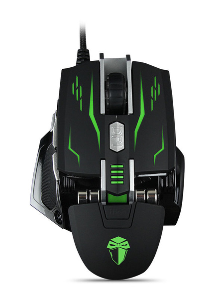 Wired Gaming Mouse Adjustable DPI Macro Programming Cool Mechanic Mouse