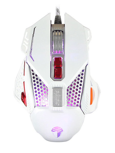 Wired Gaming Mouse 3200 DPI Internal Chip Light Switch Metallic Scroll Optical Mouse