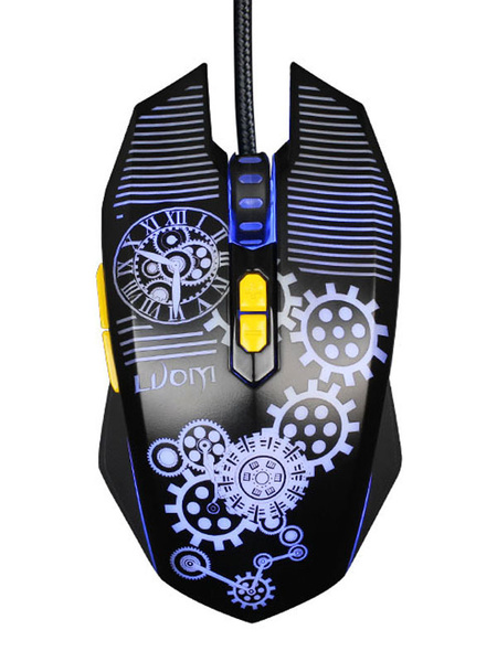 Wired Gaming Mouse Avago 3050 Chip Print DPI Adjustable Programmable Mouse