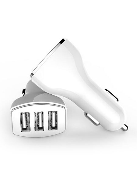 USB Car Charger 3 Port Quick Charge 2.0 Universal Car Power Adapter (usa41303768) photo