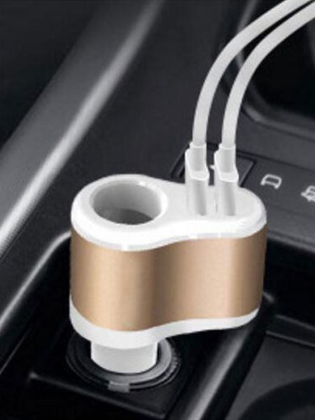 Flash Car Charger Dual Charging Port Quick Charge 2.0 12w Universal Car Power Adapter (usa41381748) photo