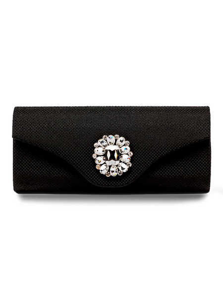 Evening Clutch Bags Silver Rhinestone Beaded Envelope Purse Bridal Party Handbags (usa41679610) photo