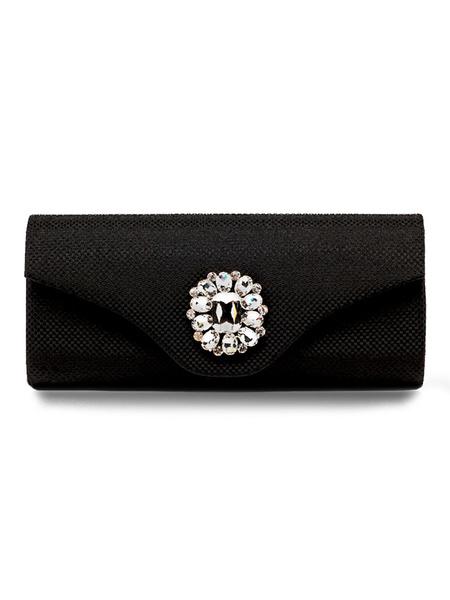 Evening Clutch Bags Silver Rhinestone Beaded Envelope Purse Bridal Party Handbags (usa41679610) photo