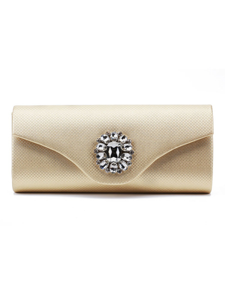 Evening Clutch Bags Silver Rhinestone Beaded Envelope Purse Bridal Party Handbags (usa41679608) photo