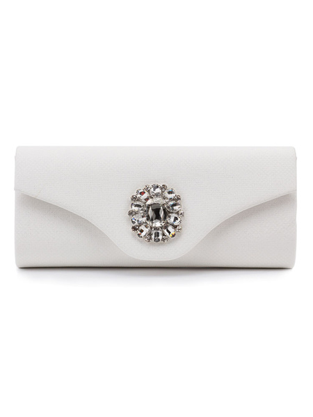 Evening Clutch Bags Silver Rhinestone Beaded Envelope Purse Bridal Party Handbags (usa41679606) photo