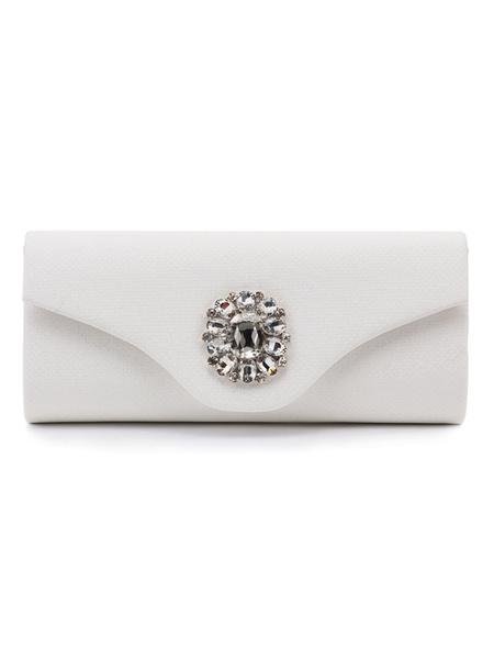 Evening Clutch Bags Silver Rhinestone Beaded Envelope Purse Bridal Party Handbags (uk41679606) photo