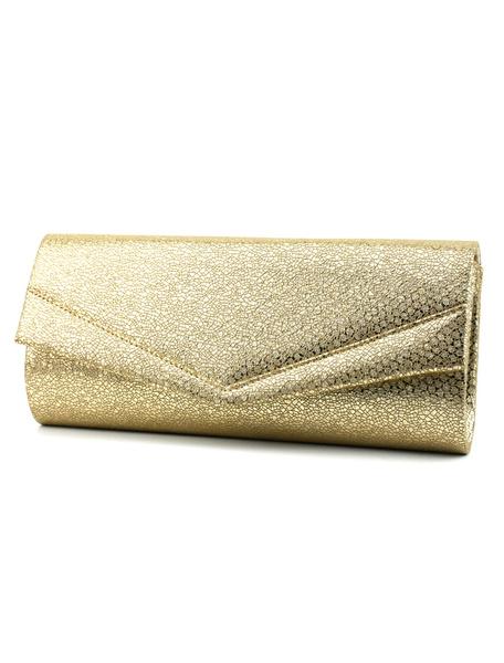 Evening Clutch Bags Gold Women Purse PU Envelope Handbags (uk41748458) photo