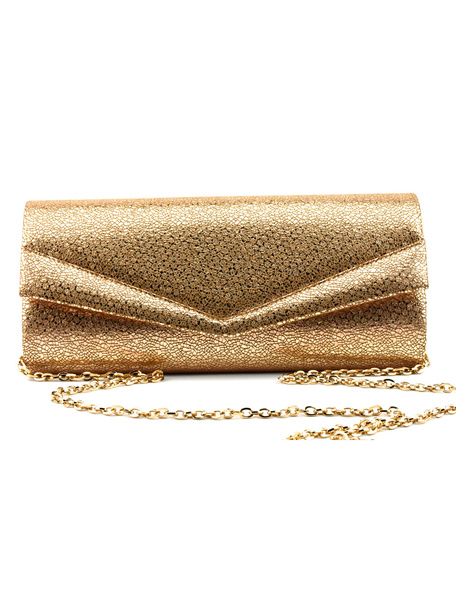 Evening Clutch Bags Gold Women Purse PU Envelope Handbags (uk41748456) photo