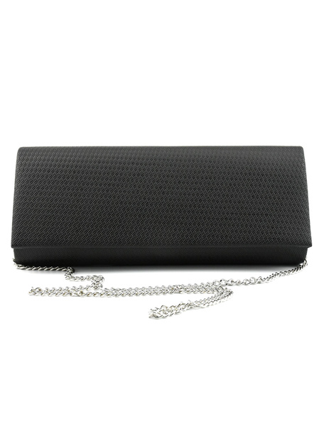 Evening Clutch Bags Black Faux Leather Purse Women Party Handbags (usa41748444) photo