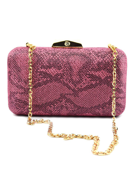 Evening Clutch Bags Rose Snake Printed Purse Women Party Handbags (usa41748388) photo