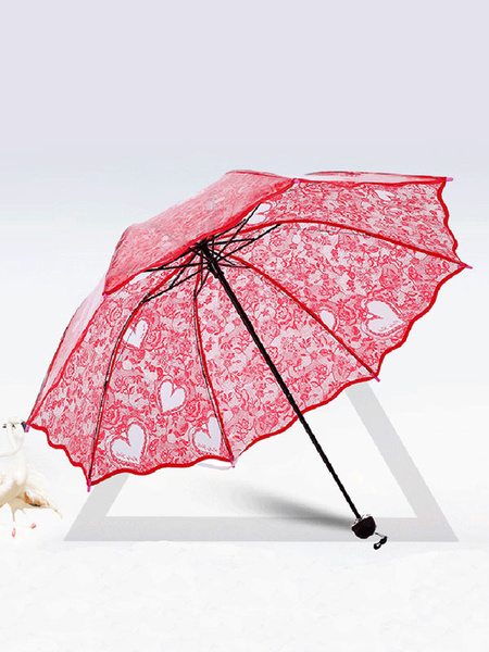 Wedding Parasol Red Sweetheart Bridal Umbrella