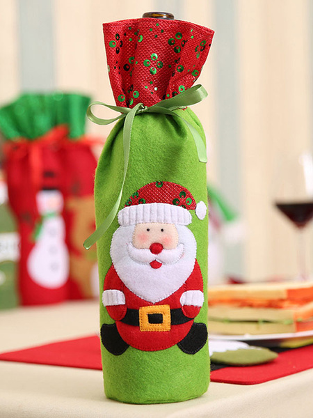 Wine Bottle Cover Bags Christmas Decorations Home Dining Table New Year Xmas Decors Halloween
