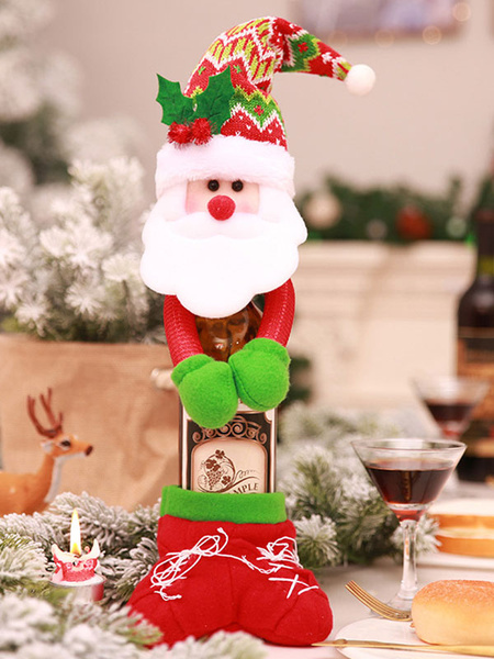 Christmas Bottle Cover Decorations Hug Wine Home Dining Table New Year Xmas Decors Halloween