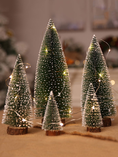 Christmas Decorations Mini Tree Green Home New Year Decors Halloween