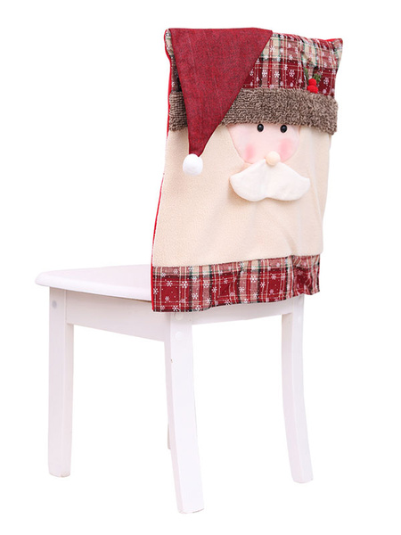 Christmas Chair Cover Santa Claus Snowman Home Xmas Decorations Halloween