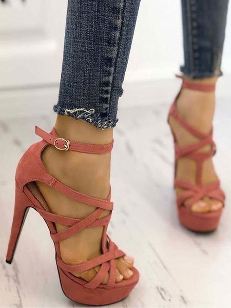 Milanoo Sandales à talons hauts plateforme à lanières chaussures - milanoo.com - Modalova