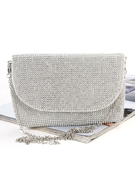 Evening Clutch Purse Rhinestone Beaded Wedding Party Handbags (usa42219218) photo