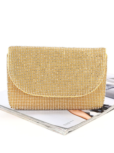 Evening Clutch Purse Rhinestone Beaded Wedding Party Handbags (usa42219220) photo
