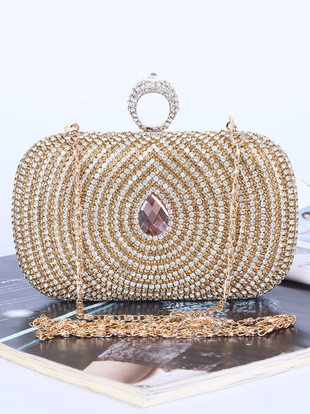 Evening Clutch Bags Wedding Party Rhinestones Beaded Purse Bridal Handbags (uk42219294) photo