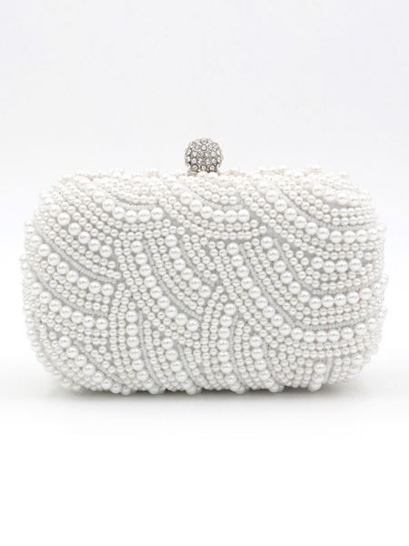 Pearls Clutch Bags Wedding Bridal Purse Beaded Evening Party Handbags (usa42219314) photo