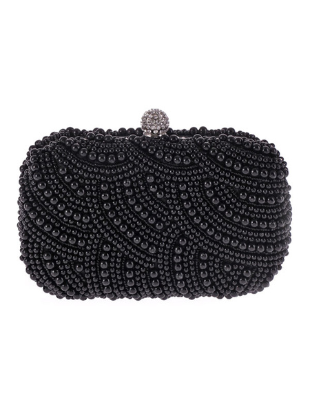 Pearls Clutch Bags Wedding Bridal Purse Beaded Evening Party Handbags (usa42219312) photo
