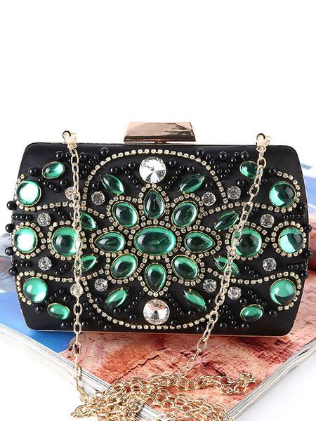 Clutch Bags Wedding Bridal Retro Purse Rhinestones Beaded Evening Handbags (usa42219256) photo