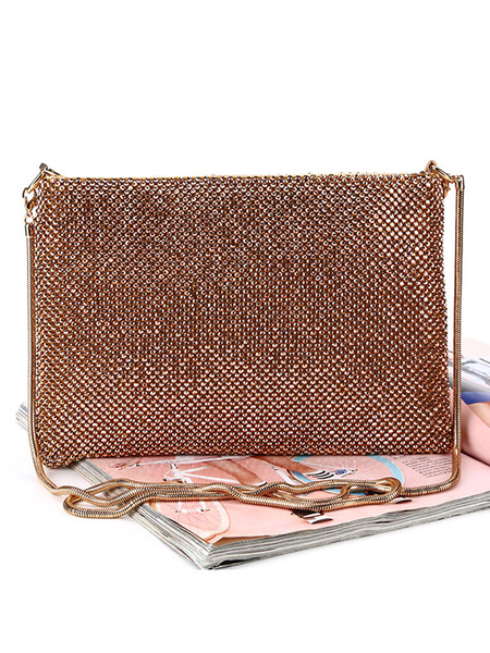 Clutch Purse Evening Rhinestone Beaded Wedding Party Handbags (usa42219692) photo