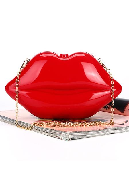 Lip Clutch Bags Red Wedding Purse Bridal Evening Handbags (usa42219730) photo