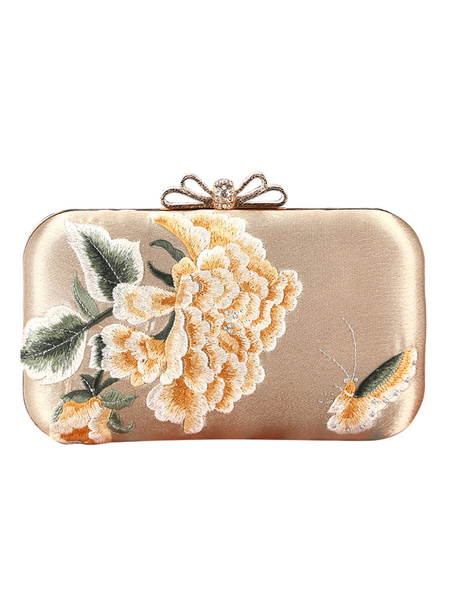 Evening Clutch Purse Embroidered Floral Rhinestone Beaded Wedding Party Handbags (usa42219698) photo