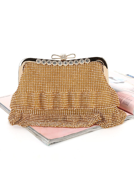 Wedding Clutch Bags Rhinestones Beaded Bridal Purse Evening Party Handbags (usa42219660) photo