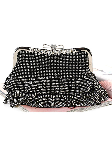 Wedding Clutch Bags Rhinestones Beaded Bridal Purse Evening Party Handbags (usa42219658) photo