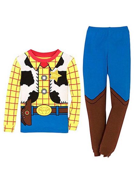 Milanoo Disney Cosplay 2020 Enfants Toy Story Woody Jaune 3 Pièces Enfants Cosplay Costumes Déguisements Halloween