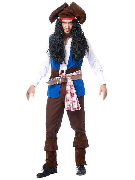 Carnival Costumes Pirate Costume Blue Pirate Waistcoat Carnival Costumes