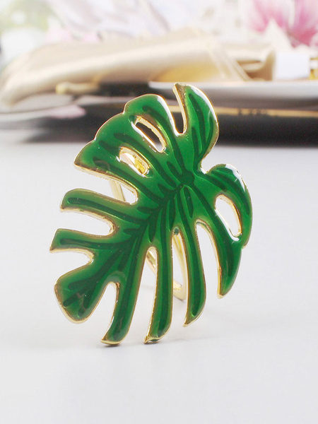Monstera Napkin Buckle IronTable Centerpiece For Wedding