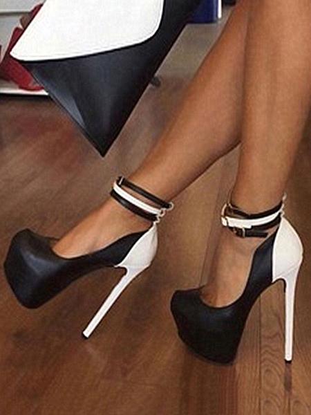 Milanoo Escarpins en PU chaussures de soirée plateforme talon haut - milanoo.com - Modalova