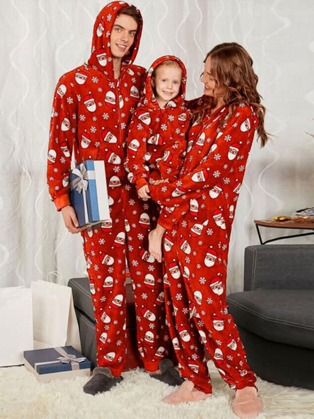 Christmas Matching Family Pajamar Red Family Christmas Jumpsuit