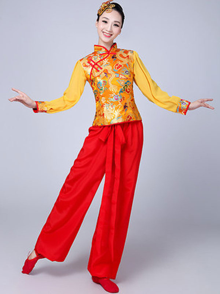 Women Chinese Costumes Asian Carnival Costumes Tang Suit Dance Costume