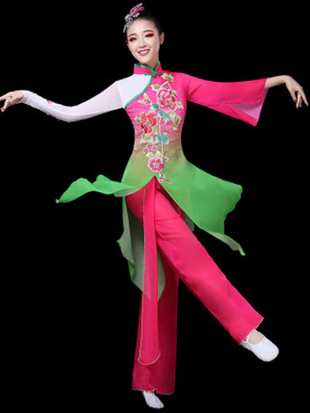Traditional Chinese Dance Costumes Asian Carnival Costumes 2 Piece Outfit