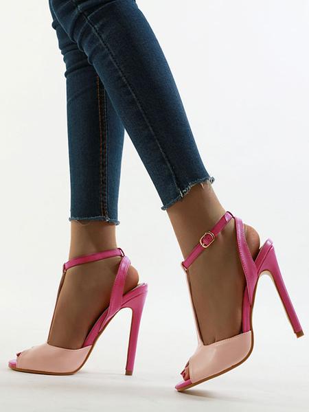 Sandales talons hauts s Escarpins bout ouvert Escarpins bride cheville Chaussures de sandale - Milanoo FR - Modalova